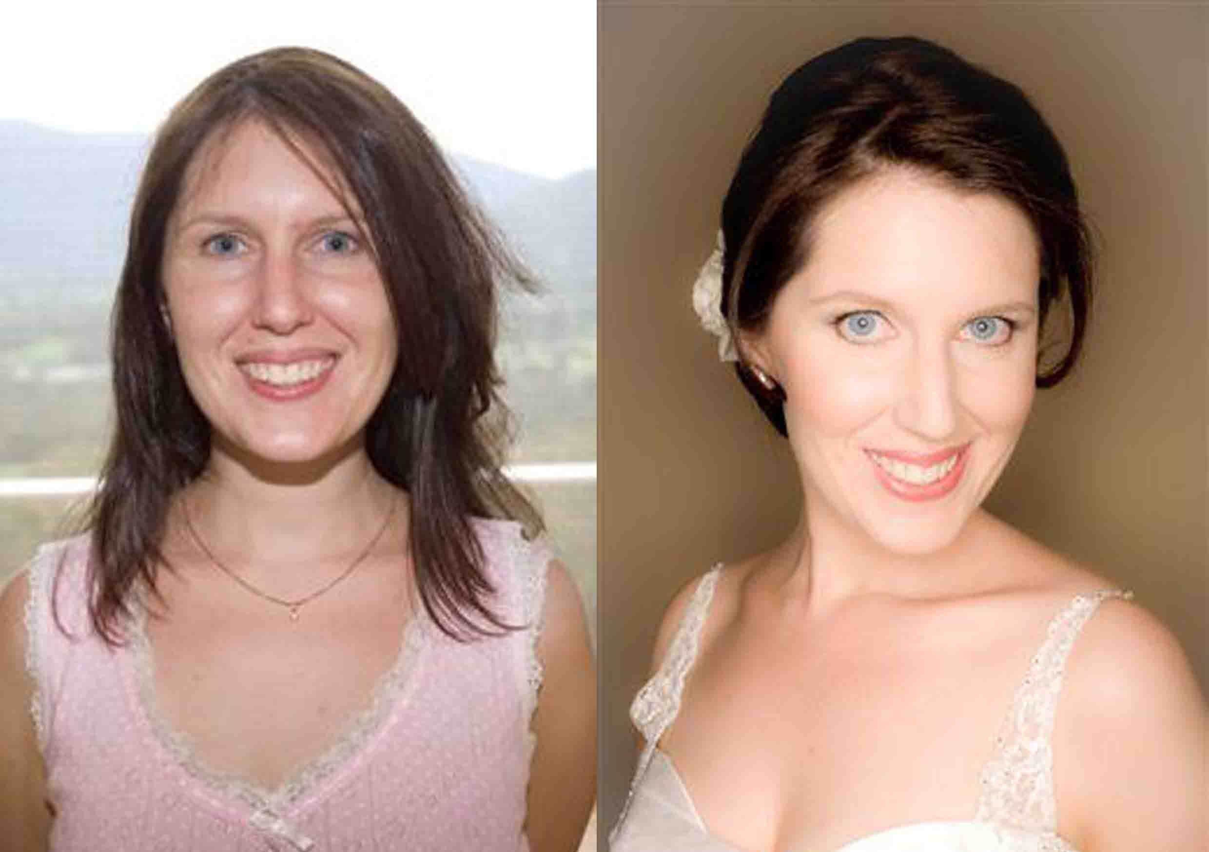 Before and After Brisbane Bridal Hair and Makeup